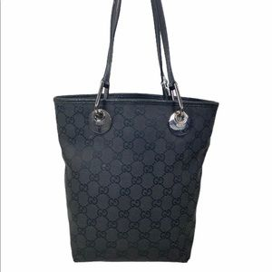 Gucci Shoulder bag Black canvas leather